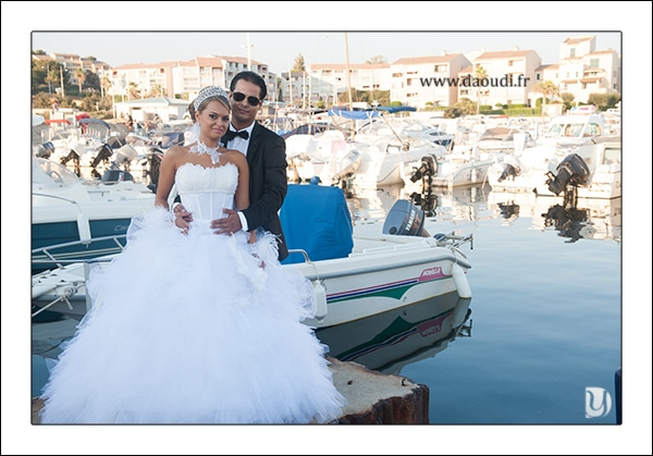 photo couple mariage gitan en bord de mer