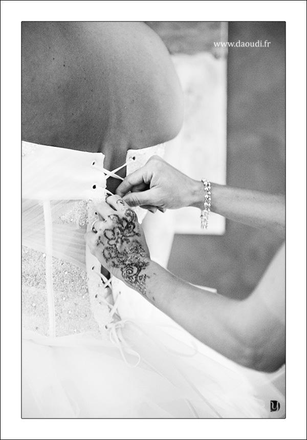 preparatif mariage oriental de la mariée