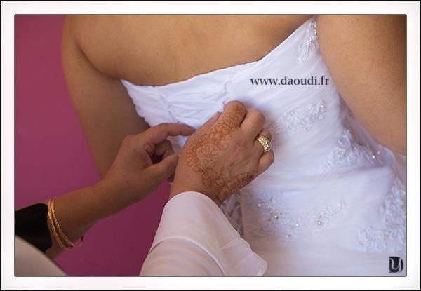 Lacet robe de mariée pour préparatifs