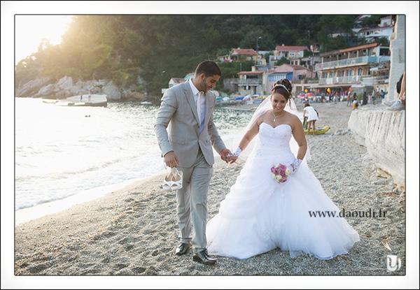 Mariés en bord de mer à Toulon
