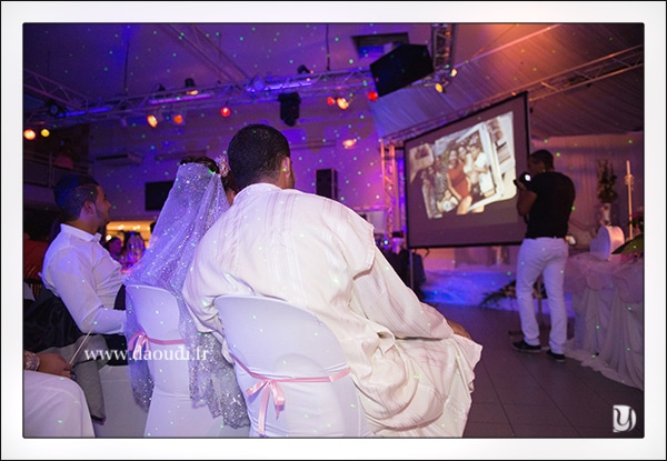Projection vidéo mariage à Toulon