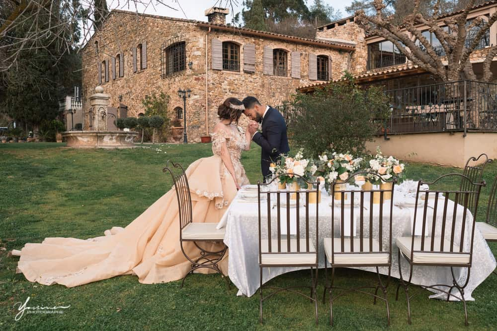Mariage oriental décoration table