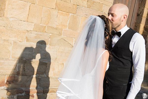 Silhouette photo de couple mariage
