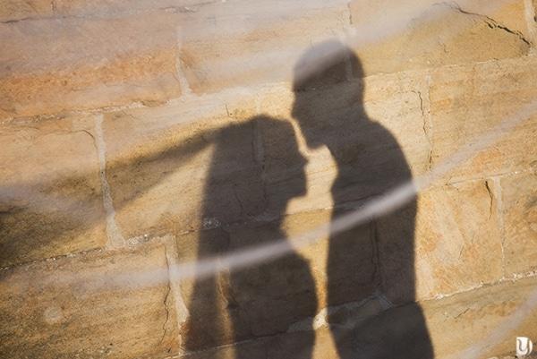 Silhouette photo de mariage