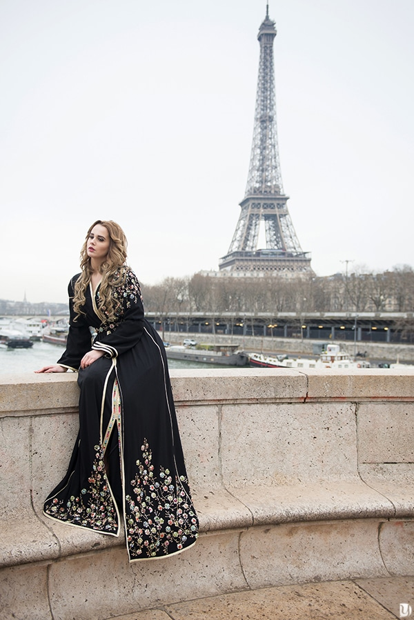 shooting photo caftan du maroc à paris