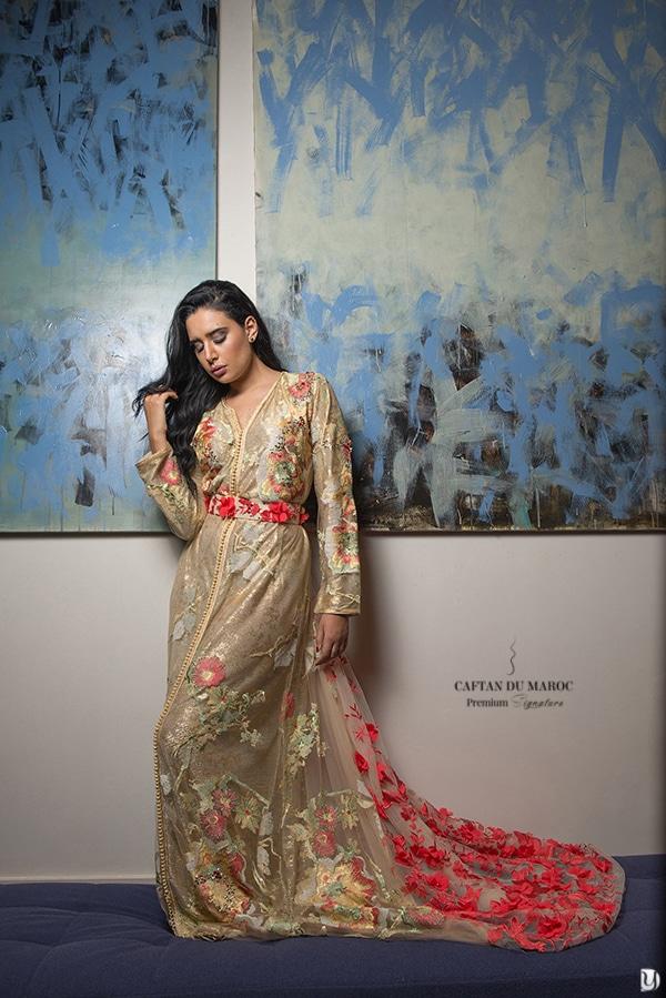 Caftan haute couture Naoual Miri