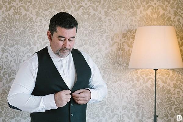 Préparatifs du marié à l'hotêl la farandole sanary