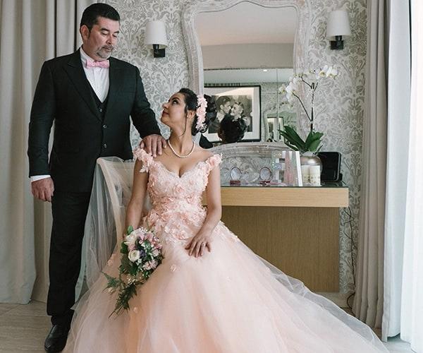 Mariage intimiste au luxueux hôtel de La Farandole à Sanary