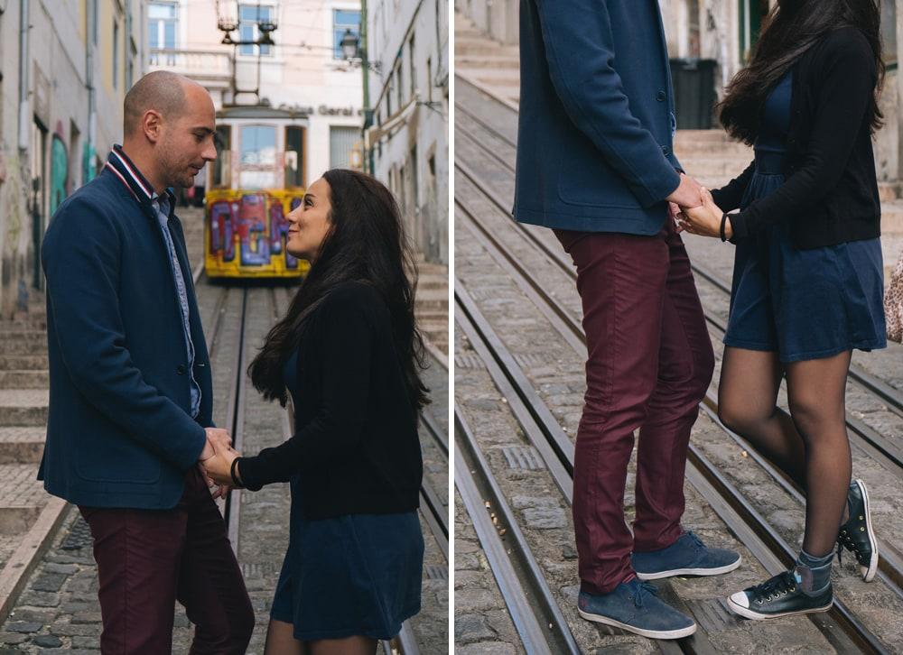 Couple à Lisbonne