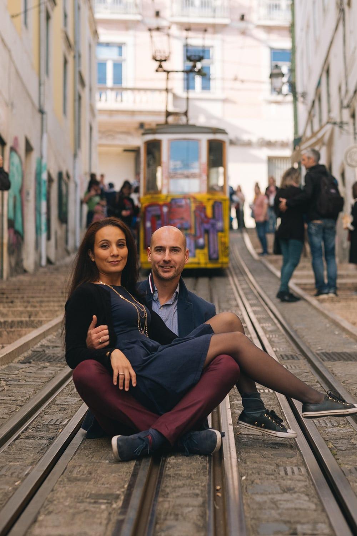 Séance couple assis