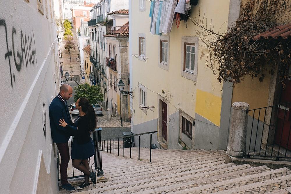 Les marches à Lisbonne