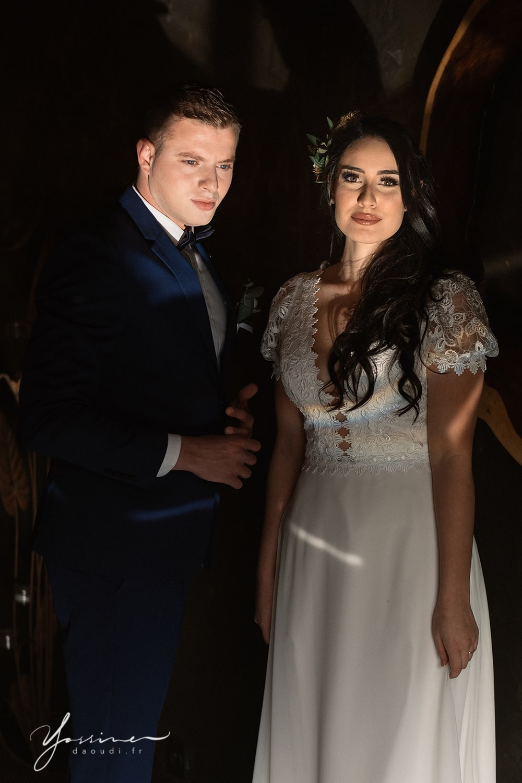 Couple marié bohème chic