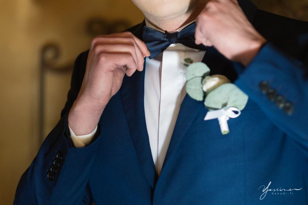 Boutonnière costume marié