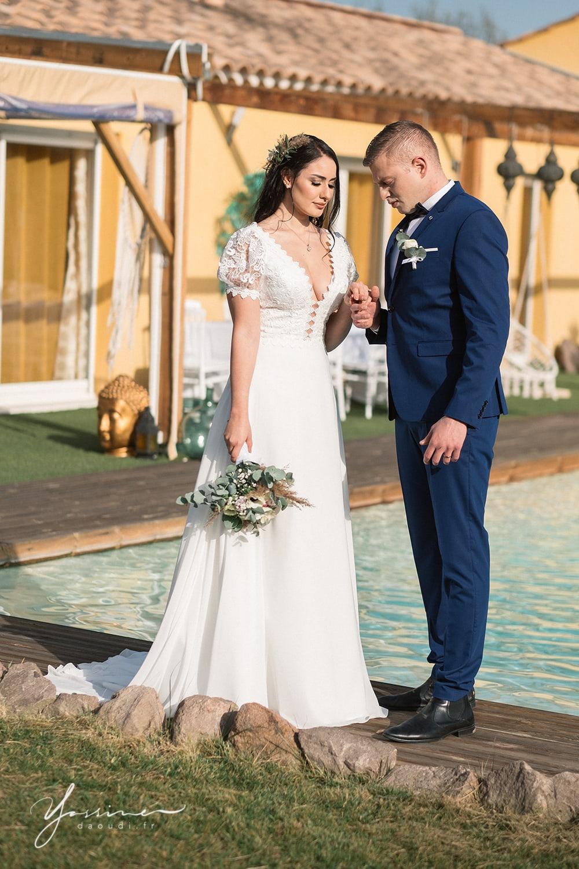 Couple mariage bohème chic