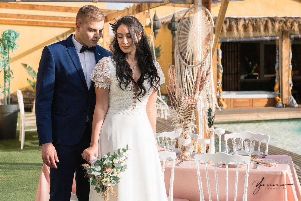 Table bohème chic mariage